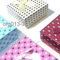 Set de cajas de cartón para regalo, 72 x 72 mm, y 33 mm de alto, set de 4 unidades, colores surtidos