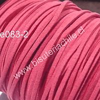 Gamuza color sandía de 3 mm de ancho y 2 mm de espesor, por metro