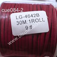 Gamuza 3 mm roja, rollo de 30 metros