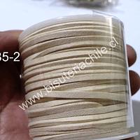 Gamuza 3 mm beige rollo de 30 metros