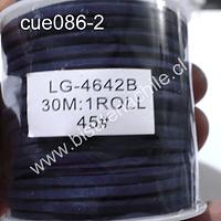 Gamuza 3 mm azul marino rollo de 30 metros