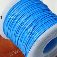 Simil cuero color turquesa 1 mm de espesor, rollo de 50 metros