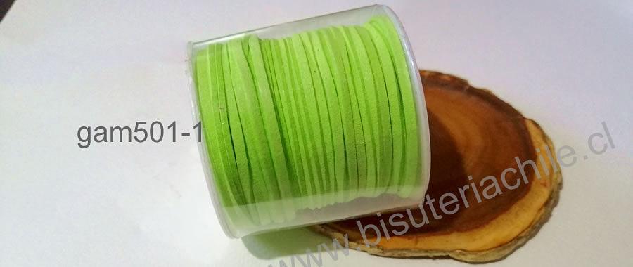 Gamuza 3 mm verde manzana rollo de 30 metros