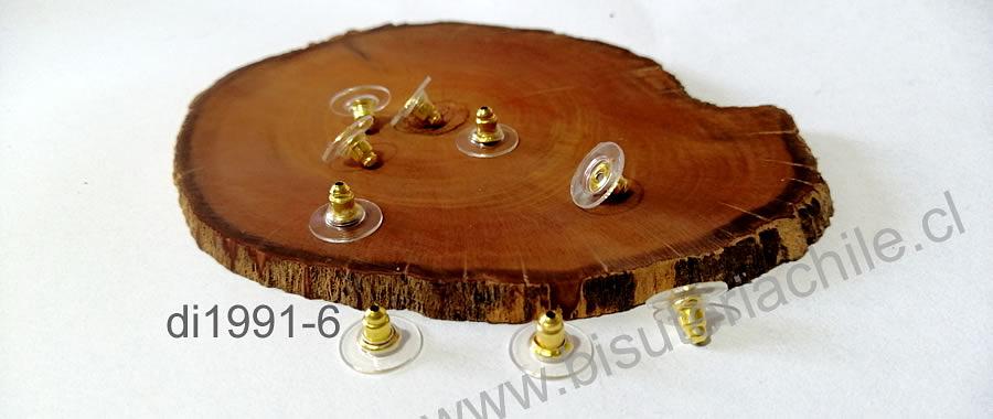 Tornillo de aro base dorada, set de 5 pares