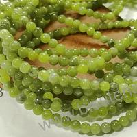 Jade japonés, de 4 mm, tira de 88 piedras aprox.