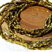 Cristal facetado dorado, especial excelente calidad, 4 x 2 mm, set de 98 cristales aprox.