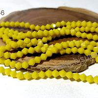 Cristal tupi 6 mm, color amarillo , tira de 48 cristales