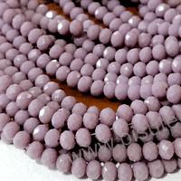 Cristal chino facetado lila de 6 mm de diámetro por 5 mm de ancho tira de 98 unidades aprox