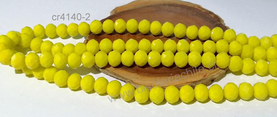 Cristal 10 x 8 mm, amarillo set de 20 unidades