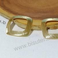 Dije o base de aro balo de oro con orificion superior, 21 x 22 mm, por par