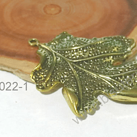Colgante dorado en forma de hoja, 65 x 50 mm, por unidad