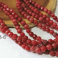Agatas, agata de 4 mm, en tono rojo oscuro 95 piedras aprox