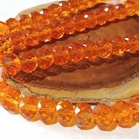 Cristal 10 x 8 mm, tono naranjo, set de 20 unidades