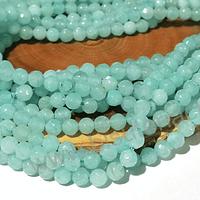 Agatas, agata de 4 mm, en tono calipso claro 95 piedras aprox