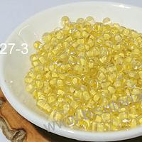 Mostacillon color crema cristal, bolsa de 50 grs. (6/0