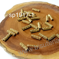Separador dorado, 10 x 3 mm, set de 24 unidades