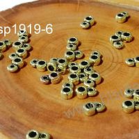 Separador dorado con argolla para dije, 4 x 2 mm, agujero de 2 mm, set de 25 unidades