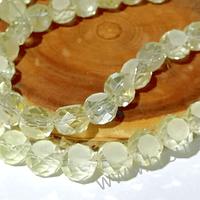 Cristal amarillo claro especial 10 mm x 6 mm de ancho, set de 12 unidades