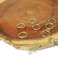 Argollas con baño de oro, 7 mm de diámetro, set de 1 grs (9 unidades aprox)