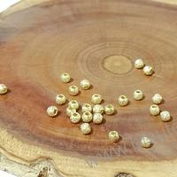 separador baño de oro escarchado de 2,5 mm, set de 1 gr, (24 unidades aprox)