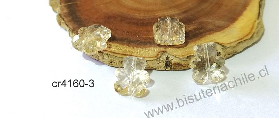 Cristal tipo separador en forma de oso, color champagne, 13 x 11 mm, set de 4 unidades