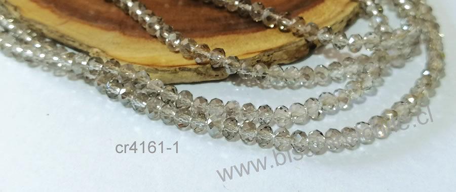 cristal de 4 mm en tono gris, tira de 140 cristales aprox.