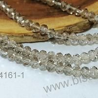 cristal de 4 mm en tono gris tornasol, tira de 140 cristales aprox.