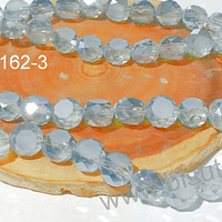Cristal gris  10 mm x 6 mm de ancho, set de 12 unidades