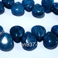 Jaspe azul en forma de gota, 12 x 10 mm, ira de 14 piedras aprox