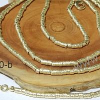 Collar con separadores baño de oro, 45 cm de largo, para usar como collar o pulsera.