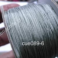 Hilos, Hilo chino color gris, 0,5 mm de ancho, rollo de 150 metros