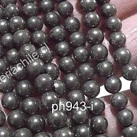 Pirita 6 mm tira de 63 piedras aprox