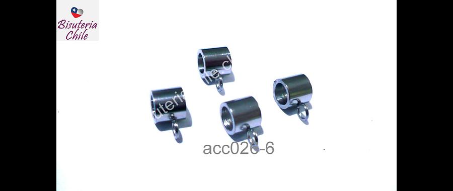 Separador de acero quirúrgico, 5 x 5 mm, agujero de 3 mm, set de 4 unidades