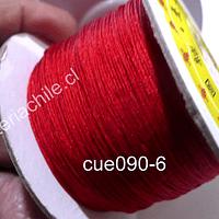 Hilos, Hilo chino color rojo, 0,5 mm de ancho, rollo de 150 metros