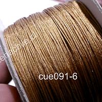 Hilo chino color café claro, 0,5 mm de ancho, rollo de 150 metros