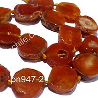 Agata especial para colgante, entre 20 a 22 mm diámetro, y 8 mm de ancho, tira de 8 piedras