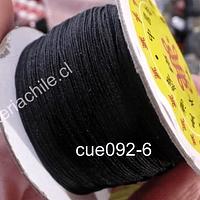 Hilos, Hilo chino color negro, 0,5 mm de ancho, rollo de 150 metros