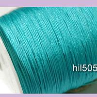 Hilos, Hilo chino macrame color turquesa, 0,5 mm de ancho, rollo de 150 metros