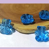 Cristal tipo separador en forma de oso, color celeste, 13 x 11 mm, set de 4 unidades