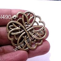 Colgante dorado, 39 mm de diámetro, por unidad