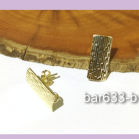 Base de aro baño de oro, 18 x 8 mm, por par