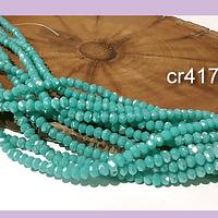Cristal facetado jade de 2 x 2 mm, tira de 190 cristales aprox