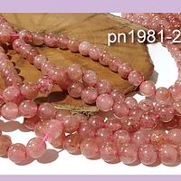 Opalo rosa 6 mm, tira de 30 piedras aprox