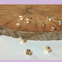 Separador baño de oro, 3 x 3 mm, set de 1 grs. (12 aprox)
