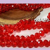 Cristal rojo de 8 mm, tira de 69 cristales aprox.