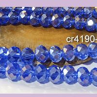 Cristal 10 x 8 mm, tonos azulino tornasol, set de 20 unidades