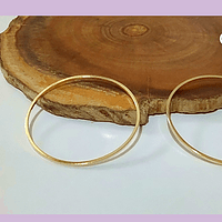 Circulo baño de oro, 29 mm de de diámetro, por 1 mm de grosor, set de 2 unidades