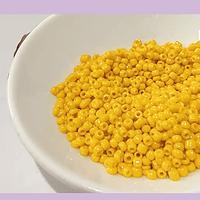 Mostacilla color amarillo de 11/0 set de 50 grs.