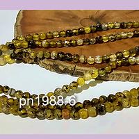 Agatas, agata de 4 mm, en tono verde ocre 95 piedras aprox