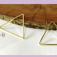 Triángulo baño de oro, 26 x 26 mm, por par